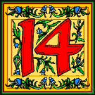 14 - the cardinal number that is the sum of thirteen and one