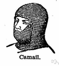 aventail - a medieval hood of mail suspended from a basinet to protect the head and neck