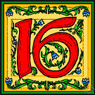 xvi - the cardinal number that is the sum of fifteen and one