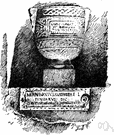 cinerarium - a niche for a funeral urn containing the ashes of the cremated dead