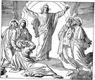 transfigure - elevate or idealize, in allusion to Christ's transfiguration