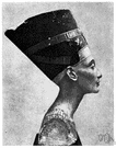 Nefertiti - queen of Egypt and wife of Akhenaton (14th century BC)