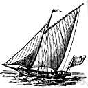 Mackinaw boat - a flat-bottomed boat used on upper Great Lakes