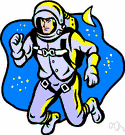 cosmonaut - a person trained to travel in a spacecraft