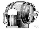 beer barrel - a barrel that holds beer