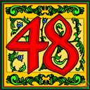 48th - the ordinal number of forty-eight in counting order