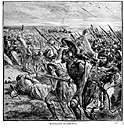 battle of Marathon - a battle in 490 BC in which the Athenians and their allies defeated the Persians