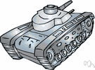armoured combat vehicle - an enclosed armored military vehicle