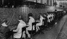 telephone exchange - a workplace that serves as a telecommunications facility where lines from telephones can be connected together to permit communication