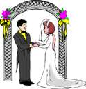 nuptials - the social event at which the ceremony of marriage is performed