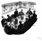 boardroom - a room where a committee meets (such as the board of directors of a company)