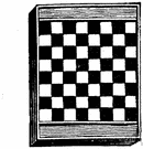 chessboard - a checkerboard used to play chess