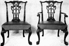 Chippendale - a British cabinetmaker remembered for his graceful designs (especially of chairs) which influenced his contemporaries (1718-1779)