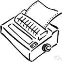 dot matrix printer - a printer that represents each character as a pattern of dots from a dot matrix