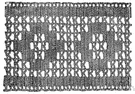 macramé - a relatively coarse lace