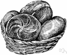 kaiser roll - rounded raised poppy-seed roll made of a square piece of dough by folding the corners in to the center