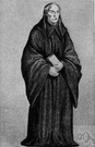 Benedictine - a monk or nun belonging to the order founded by Saint Benedict