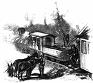 donkey engine - a locomotive for switching rolling stock in a railroad yard