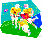 handoff - (American football) a play in which one player hands the ball to a teammate