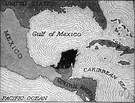 Yucatan - a peninsula in Central America extending into the Gulf of Mexico between the Bay of Campeche and the Caribbean Sea