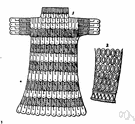 chain mail - (Middle Ages) flexible armor made of interlinked metal rings