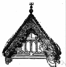 Saddleback roof - a double sloping roof with a ridge and gables at each end