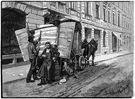ice wagon - (formerly) a horse-drawn wagon that delivered ice door to door