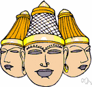 Trimurti - the triad of divinities of later Hinduism