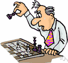 chess player - someone who plays the game of chess