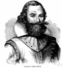 Captain John Smith - English explorer who helped found the colony at Jamestown, Virginia