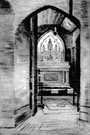 Lady chapel - a small chapel in a church