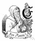 ave Maria - a salutation to the Virgin Mary now used in prayers to her