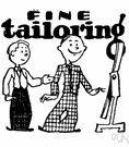 tailoring - the occupation of a tailor