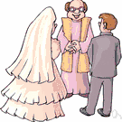 marriage ceremony - the act of marrying