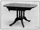 drop-leaf - a hinged leaf on a table that can be raised and supported by a bracket