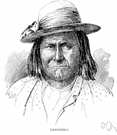 Geronimo - Apache chieftain who raided the white settlers in the Southwest as resistance to being confined to a reservation (1829-1909)