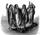 nautch - an intricate traditional dance in India performed by professional dancing girls