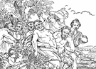 Silenus - any of the minor woodland deities who were companions of Dionysus (similar to the satyrs)
