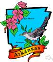 AR - a state in south central United States