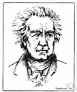 Johann Wolfgang von Goethe - German poet and novelist and dramatist who lived in Weimar (1749-1832)