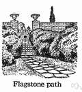 flagstone - stratified stone that splits into pieces suitable as paving stones