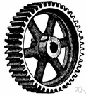 Spur wheel - gear wheels that mesh in the same plane
