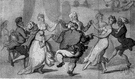 round dance - a ballroom dance characterized by revolving movement