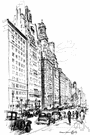 Park Avenue - a fashionable residential street in New York City