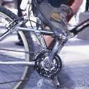 bicycle chain - a chain that transmits the power from the pedals to the rear wheel of a bicycle