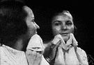face towel - a small towel used to dry the hands or face
