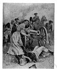 Mary Ludwig Hays McCauley - heroine of the American Revolution who carried water to soldiers during the Battle of Monmouth Court House and took over her husband's gun when he was overcome by heat (1754-1832)