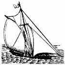 yacht - an expensive vessel propelled by sail or power and used for cruising or racing