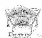 tie beam - a horizontal beam used to prevent two other structural members from spreading apart or separating