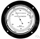 altimeter - an instrument that measures the height above ground